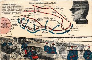 CPA  Militaire - Bataille de la Marne - General Gallieni  (697216)