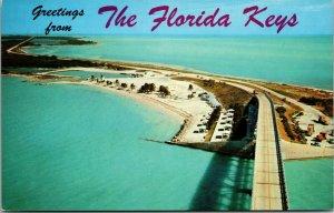 Key West Aerial View Greetings Vintage Postcard