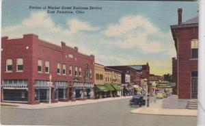 Ohio East Palestine Portion Of Market Street Business Section Curteich