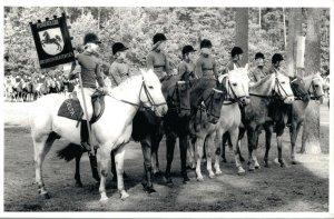 Hippique sport horses group horse riders Levade 1978 RPPC 03.95