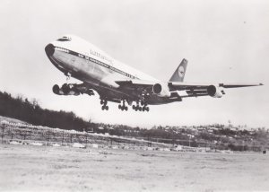 RP: Lufthansa Boeing 747-30 Jumbo-Jet airplane, Take-off, Holland , 70-80s