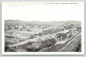 Lordsburg NM Train Tracks Run Parallel w/Downtown Railroad Ave~Scott Auto~1931