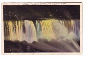 Canadian Falls by Illumination, Niagara Falls, New York, Made in USA