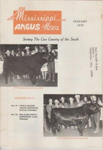 Mississippi Angus News January 1970 Publication, Serving Cow Country of South