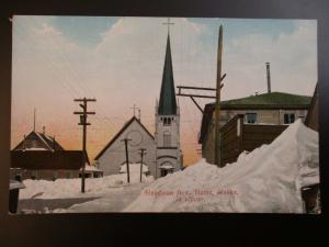 Early 1900s Mint Vintage Steadman Ave Nome Alaska in Winter Postcard