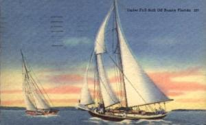 Under Full Sail off Sunny Florida Misc FL 1957