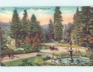 Unused Divided-Back PARK SCENE Portland Oregon OR H2638