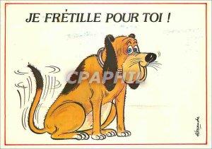 Modern Postcard I Fretille for you Dog