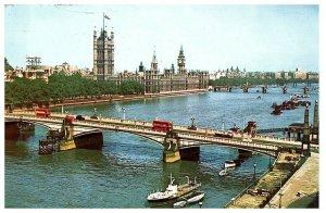 Lamberth Pont & Maisons De Parlement Carte Postale Expédié 1963