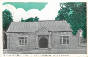 Ste. Genevieve Missouri~Museum & Library~1936 Bi-Centennial Postcard