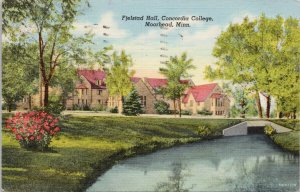 Moorhead MN Fjelstad Hall Concordia College Vintage Linen Postcard F61