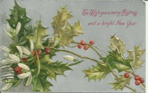 To Wish You a Merry Christmas and a bright New Year--Embossed