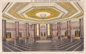Missouri Kansas City Municipal Auditorium The Little Theater Curteich