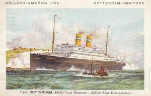 Ocean Liner T.S.S. ROTTERDAM , Holland-America Line, 1932 #2
