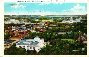 Washington D C Panoramic View Looking East From Monument 1934