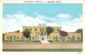 Abilene Texas Grande Lodge Street View Antique Postcard K46818