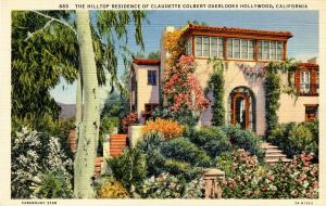CA - Hollywood. Home of Claudette Colbert
