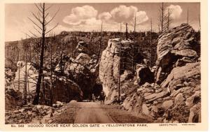 Hoodoo Rocks Near Golden Gate, Yellowstone National Park, 1914