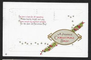 A Joyous Christmas Day 'The Time is Here For...' Used c1913
