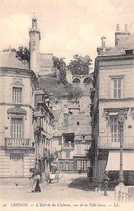 L'Entr»e du Chateau, vue de la Ville Basse Chinon France Unused