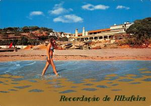 Portugal Albufeira Algarve Oura Beach Praia Boats Postcard