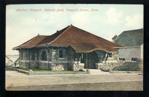 Martha's Vineyard, Massachusetts/Mass/MA Postcard, National Bank, Cape Cod
