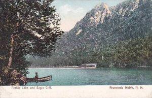 New Hampshire Franconia Notch Profile Lake And Eagle Cliff