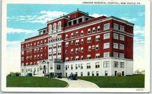 New Castle, Pennsylvania Postcard JAMESON MEMORIAL HOSPITAL Curteich Linen 1935