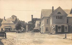 Wilton ME Dirt Street Business District Stores Real Photo Postcard
