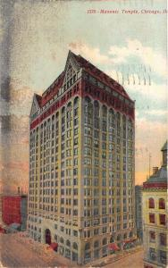 Chicago Illinois~Masonic Temple~1907 Souvenir Post Card Co Postcard