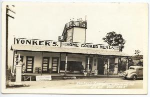 Cumberland MD Yonkers Tower Restaurant RPPC Real Photo Postcard Shop