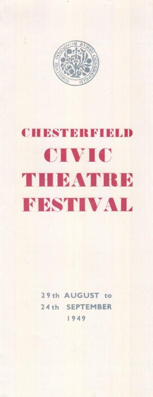 Chesterfield 1940s Civic Theatre Festival Mayor Opera Programme Flyer