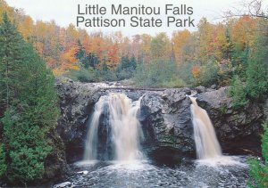 (2 cards) Superior WI Wisconsin Little and Big Manitou Falls Pattison State Park