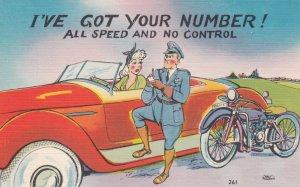 MOTORCYCLE Policeman Comic , 1930-40s