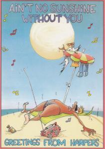 Harpers Nightclub Surrey Beach Party Advertising Postcard