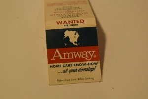 Amway Home Care Know-How at Your Doorstep! 20 Strike Matchbook Cover
