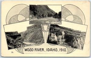 Oregon Trail Monument Expedition Postcard WOOD RIVER, IIDAHO, 1910 Unused