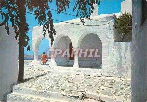 Modern Postcard Paros A picturesque corner