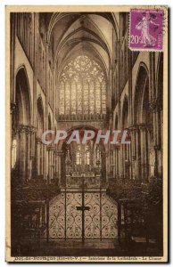 Old Postcard Dol de Bretagne Interior of the Cathedral Choir