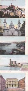 (5 cards) Views of Genoa, Italy - Un Saluto da Genova - UDB