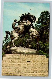 Murrells Inlet, Brookgreen Gardens, Stallions, Chrome South Carolina Postcard