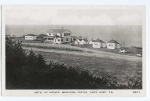 RPPC Hotel Du Rocher, Madeleine Center, Gaspe Nord, Quebec, Canada