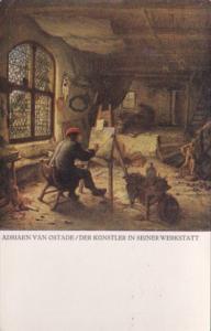 Adriaen Van Ostade Der Kuenstler In Seiner Werkstatt  Sammlungen Zu Dresden