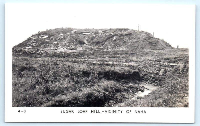 Postcard Japan Okinawa Sugar Loaf Hill Vicinity of Naha RPPC Real Photo A06