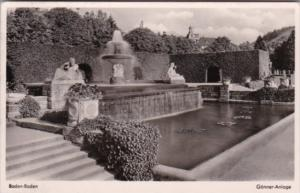 Germany Baden-Baden Gonner Anlage 1956 Photo