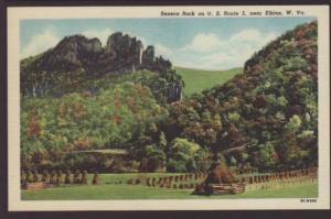 Seneca Rock on US Route 5,Near Elkins,WV Postcard