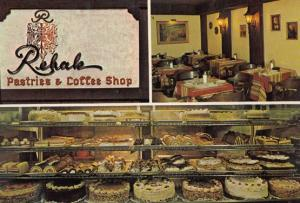 Rehak Pastry Bakers Coffee Shop Hamilton Ontario Canadian Postcard