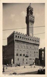 RPPC Firenze - PALAZZO VECCHIO Florence, Italy Vintage Photo Postcard