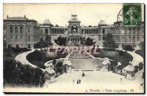Postcard Old Marseille Longchamp Palace
