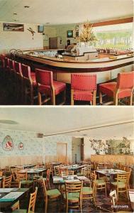1950s Mauston Wisconsin Carpenter 's Restaurant Bar Cedar Dexter postcard 8839